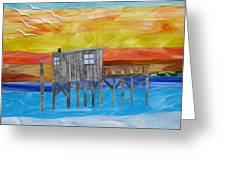 Honeymoon Sunset Greeting Card by Charles McDonell
