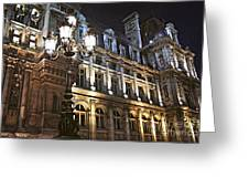 Hotel de Ville in Paris Greeting Card by Elena Elisseeva