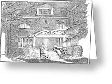House / Home Rendering Greeting Card by Marty Rice