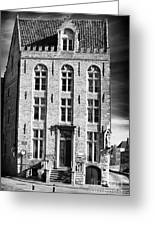 House On The Corner Greeting Card by John Rizzuto