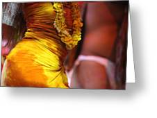 Hula Dancers Greeting Card by Nadine Rippelmeyer