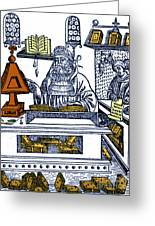 John Peckham, Anglican Theologian Greeting Card by Science Source