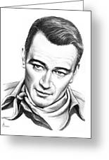 John Wayne Greeting Card by Murphy Elliott