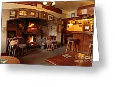 Kings Head Pub Kettlewell Greeting Card by Louise Heusinkveld