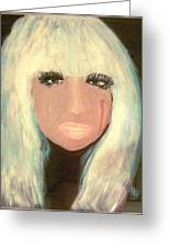 Lady Gaga Greeting Card by Marie Bulger