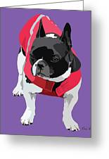 Lady In Red Greeting Card by Kris Hackleman