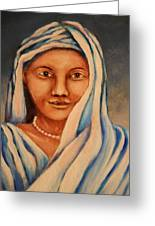 Lady Of All Nations Greeting Card by Linda Diane Taylor