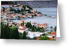 Lagada. Chios Greece  Greeting Card by Emmanuel Panagiotakis
