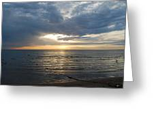 Lake Erie Sunrise Greeting Card by Peter  McIntosh