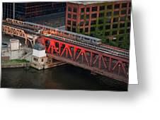 Lake Street Crossing Chicago River Greeting Card by Steve Gadomski