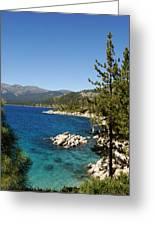 Lake Tahoe Shoreline Greeting Card by Scott McGuire