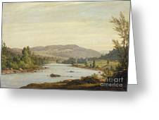Landscape With River Greeting Card by Sanford Robinson Gifford