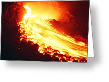 Lava Flow And Vent Greeting Card by Dr Juerg Alean