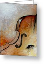 Le Violoncelle Greeting Card by Vital Germaine