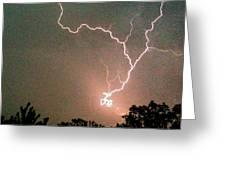 Lightning Strike Greeting Card by Kristina Chapman
