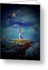 Little Wishes By The Sea Greeting Card by Leslie Allen