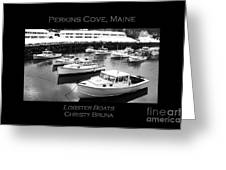 Lobster Boats Greeting Card by Christy Bruna