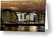 London City Hall At Night Greeting Card by Elena Elisseeva