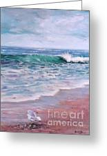 Lonely Gull Greeting Card by Laura Lee Zanghetti