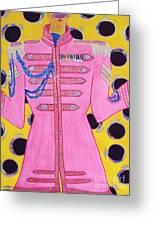 Lonely Hearts Club Member Ringo Greeting Card by Barbara Nolan
