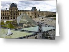 Louvre Museum. Paris Greeting Card by Bernard Jaubert
