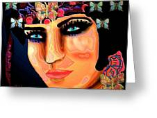 Madame Butterfly Greeting Card by Natalie Holland