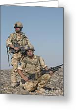 Members Of The British Army On Foot Greeting Card by Andrew Chittock