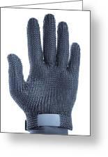 Metal Mesh Glove Greeting Card by Cristina Pedrazzini