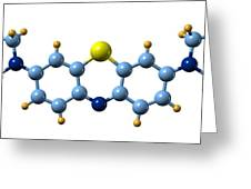 Methylene Blue, Molecular Model Greeting Card by Dr Mark J. Winter