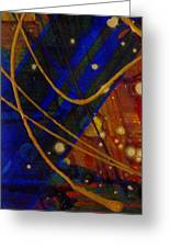Mickey's Triptych - Cosmos I Greeting Card by Angela L Walker
