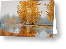 Misty Lake Greeting Card by Graham Gercken