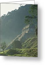 Misty View Of The Temple Greeting Card by Kenneth Garrett