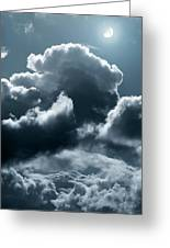 Moonlit Clouds Greeting Card by Detlev Van Ravenswaay