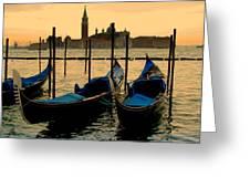 Morning In Venice Greeting Card by Barbara Walsh