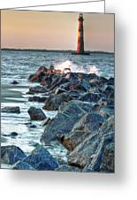 Morris Island Lighthouse Greeting Card by Drew Castelhano