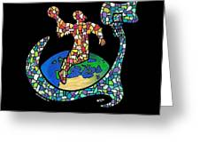 Mosaic Ballin Greeting Card by Steve Weber