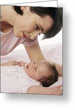 Mother And Baby Greeting Card by Ian Boddy