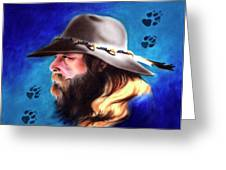 Mountain Man Greeting Card by Robert Martinez