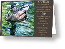 My Dad Greeting Card by Debra     Vatalaro