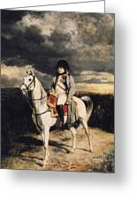 Napoleon Bonaparte On Horseback Greeting Card by War Is Hell Store
