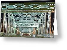 Nashville by Night Bridge 2 Greeting Card by Douglas Barnett