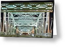 Nashville By Night Bridge 2 Greeting Card by Douglas Barnett