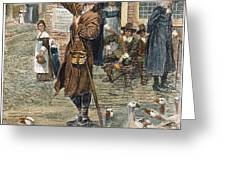 NEW ENGLAND: QUAKER, 1660 Greeting Card by Granger
