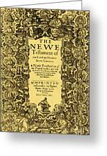New Testament, King James Bible Greeting Card by Photo Researchers