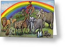 Noah's Ark Greeting Card by Kevin Middleton