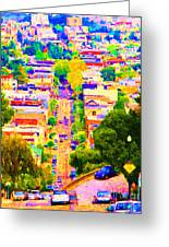 Noe Street In San Francisco 2 Greeting Card by Wingsdomain Art and Photography