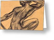Nude Men Greeting Card by Odon Czintos