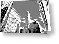 Nyc Looking Up Bw3 Greeting Card by Scott Kelley
