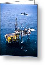 Oil Platform Greeting Card by Arno Massee