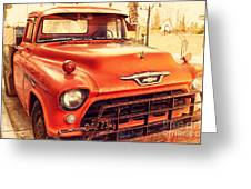 Old American Chevy Chevrolet Truck . 7d10669 Greeting Card by Wingsdomain Art and Photography